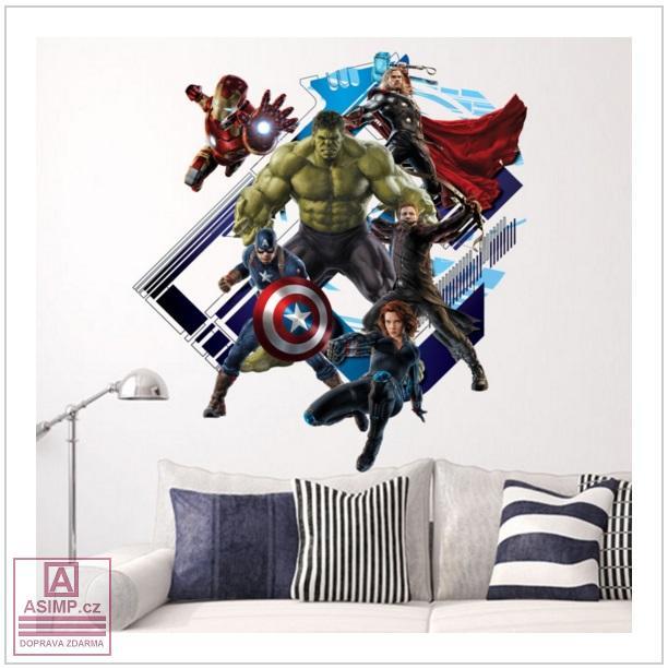 Samolepka na zeď - Hulk / 02Dn-00002