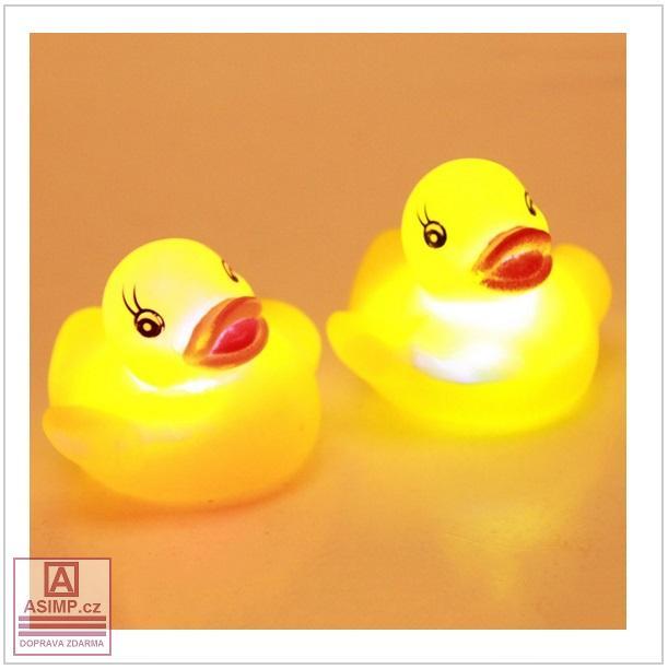 Dětská svítící kachnička do vody (4 ks) / dnk-13-00347