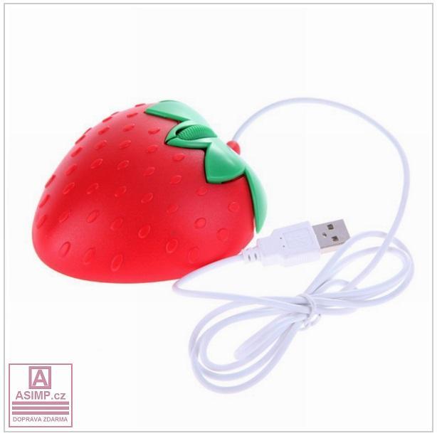 Kabelová myš - Jahoda / tnk-13-00408