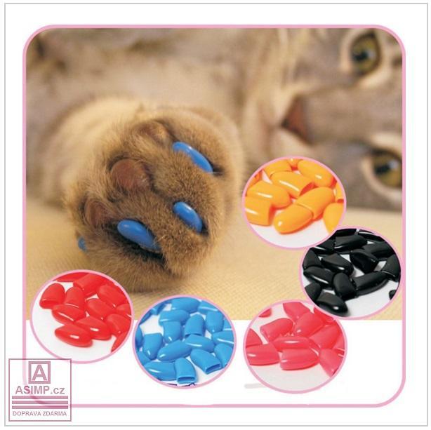 Ochranná pouzdra na kočičí drápky (20 ks) / tnk-13-00062