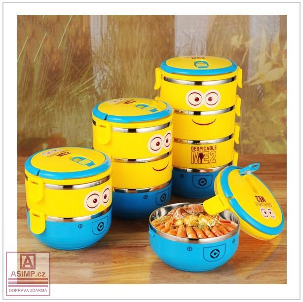 Přepravka na jídlo - Mimoni (2 vrstvy) / tnk-13-01976b