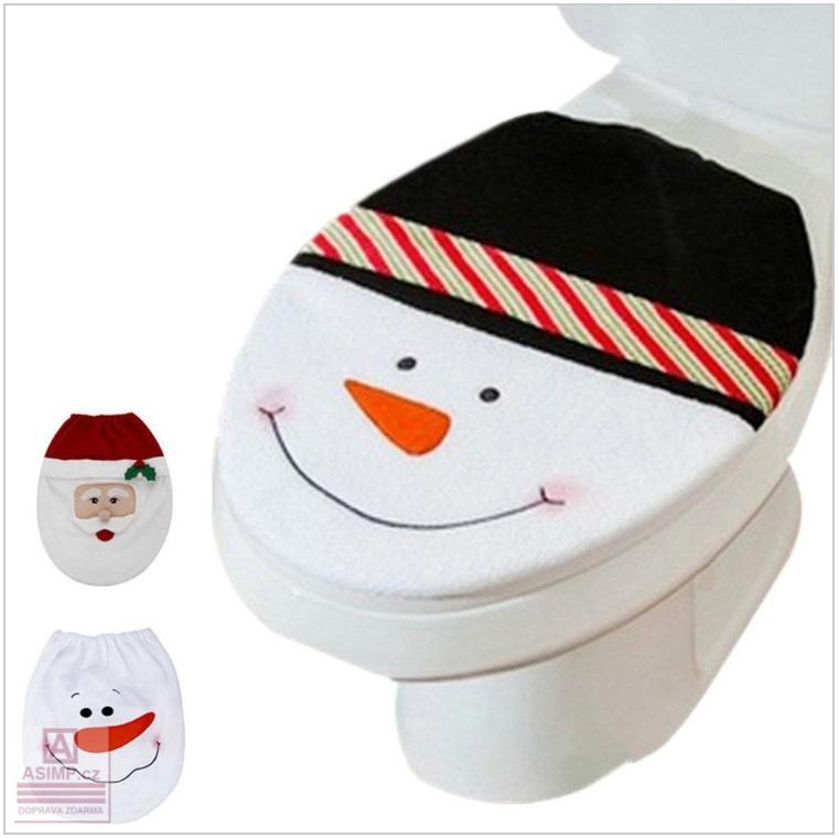 Vánoční potah na záchodové prkénko / dnk-13-01461