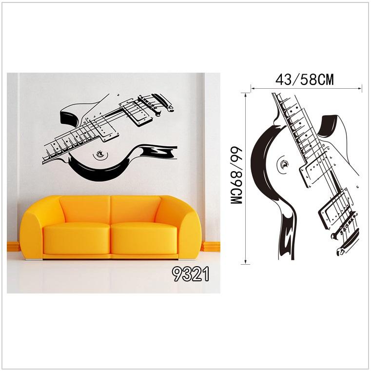 Samolepící tapeta - kytara (58 x 89 cm) / AT-00041b