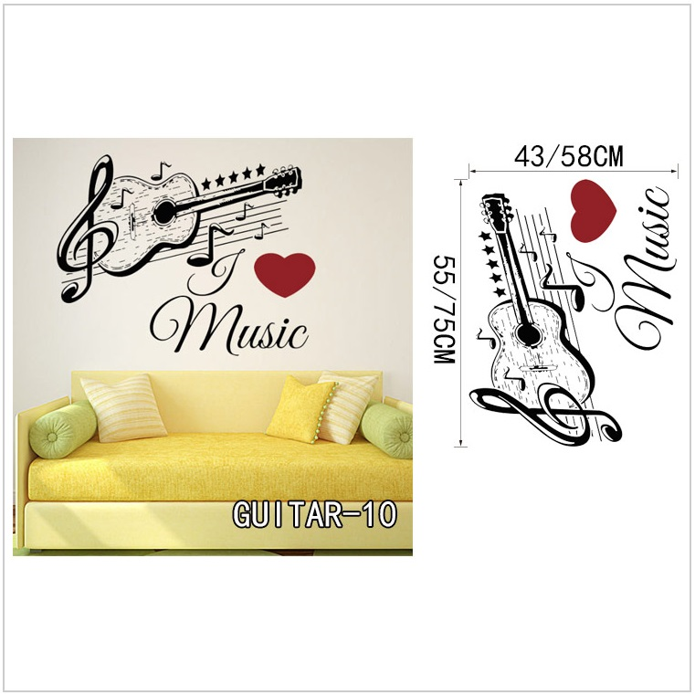 Samolepící tapeta - kytara (58 x 75 cm) / AT-00044b