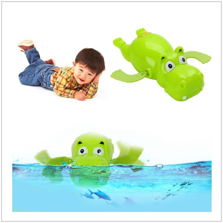 Hračka do vody - natahovací plavající hrošík