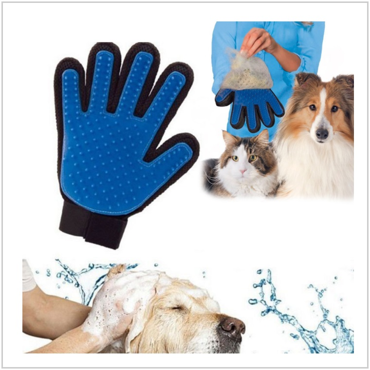Masážní a vyčesávací rukavice pro domácí mazlíčky / AD-00327