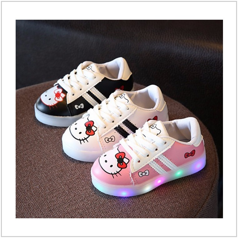 Dětské svítící boty - Hello Kitty / AT-00514
