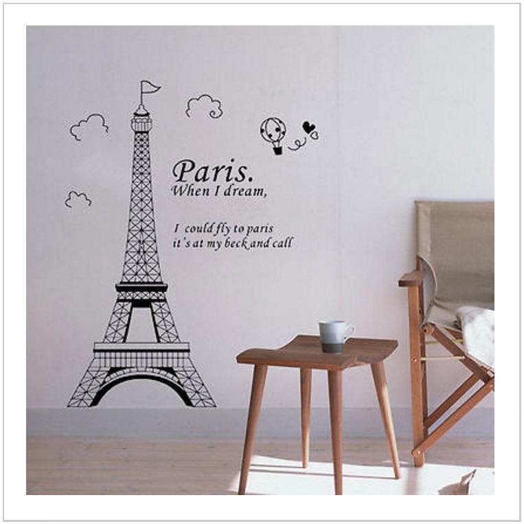 Samolepicí tapeta na zeď - Eiffelova věž / AT-00521