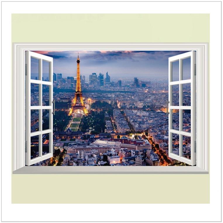 Samolepicí tapeta na zeď - Paříž & Eiffelova věž / AT-00522