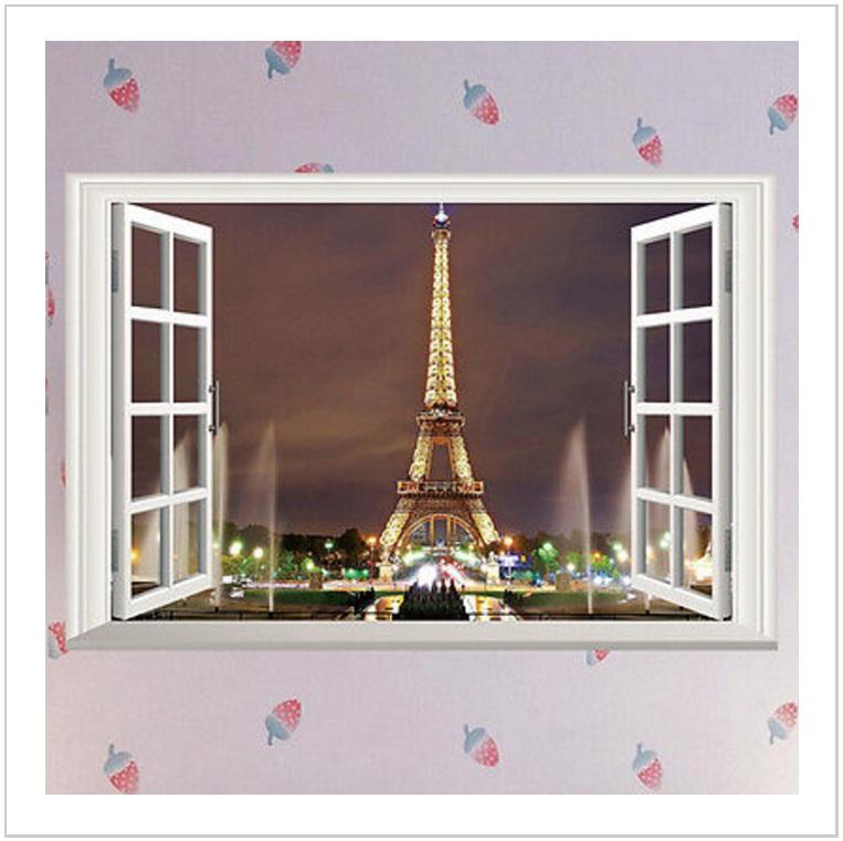 Samolepicí tapeta na zeď - Eiffelova věž / AT-00523