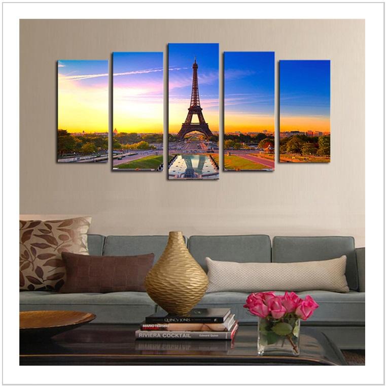 Dekorace na zeď - Eiffelova věž (S) / AT-00524a