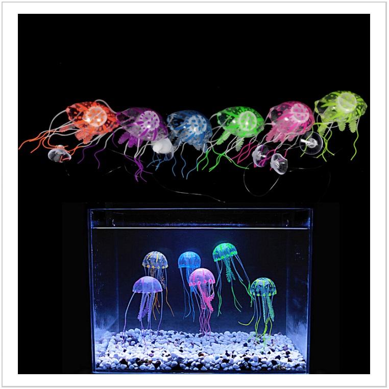 Dekorace do akvária - umělá medúza / AT-00542