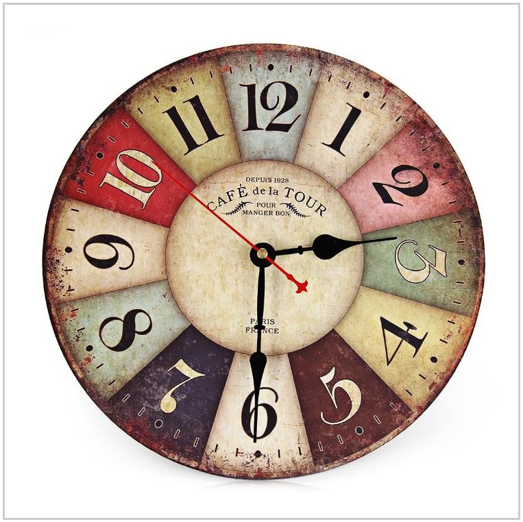 Nástěnné retro hodiny / AT-00545