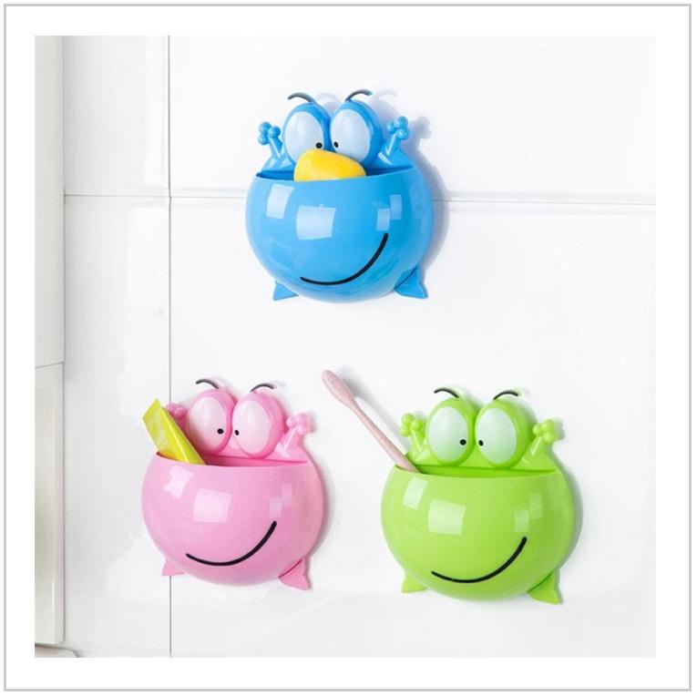 Držák na zubní pastu a kartáček - žába / AT-00557