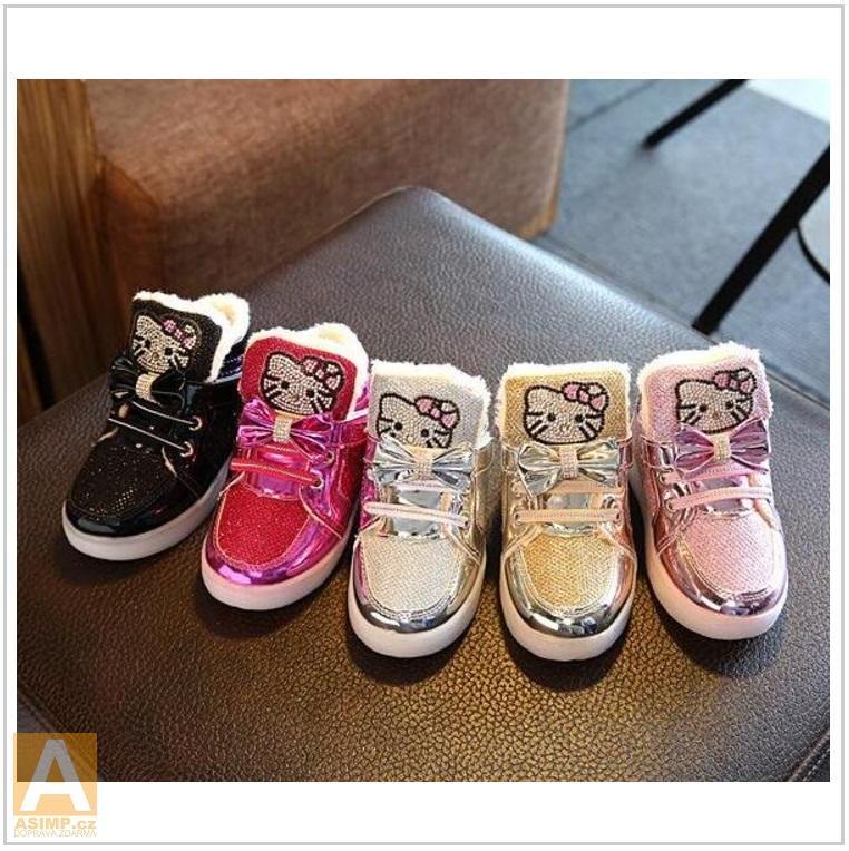 Dětská svítící obuv - Helo Kitty / AD-00348