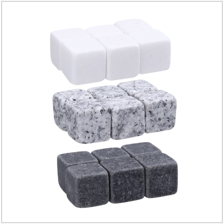 Chladicí kamenné kostky do nápojů (6 ks) / AT-00649