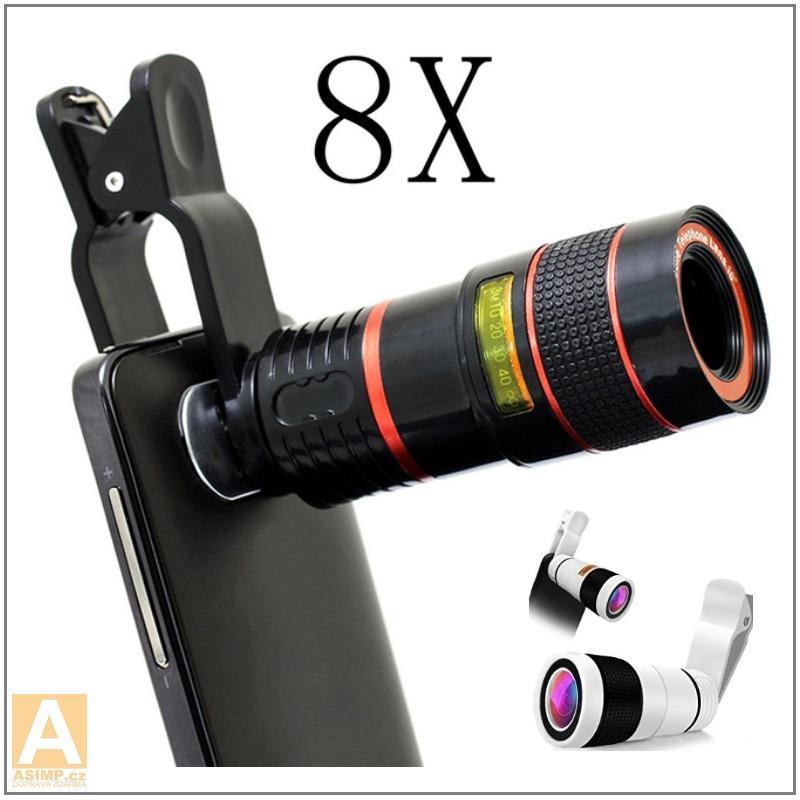 Univerzální teleskopický objektiv s klipem (8x zoom) / XT-00023