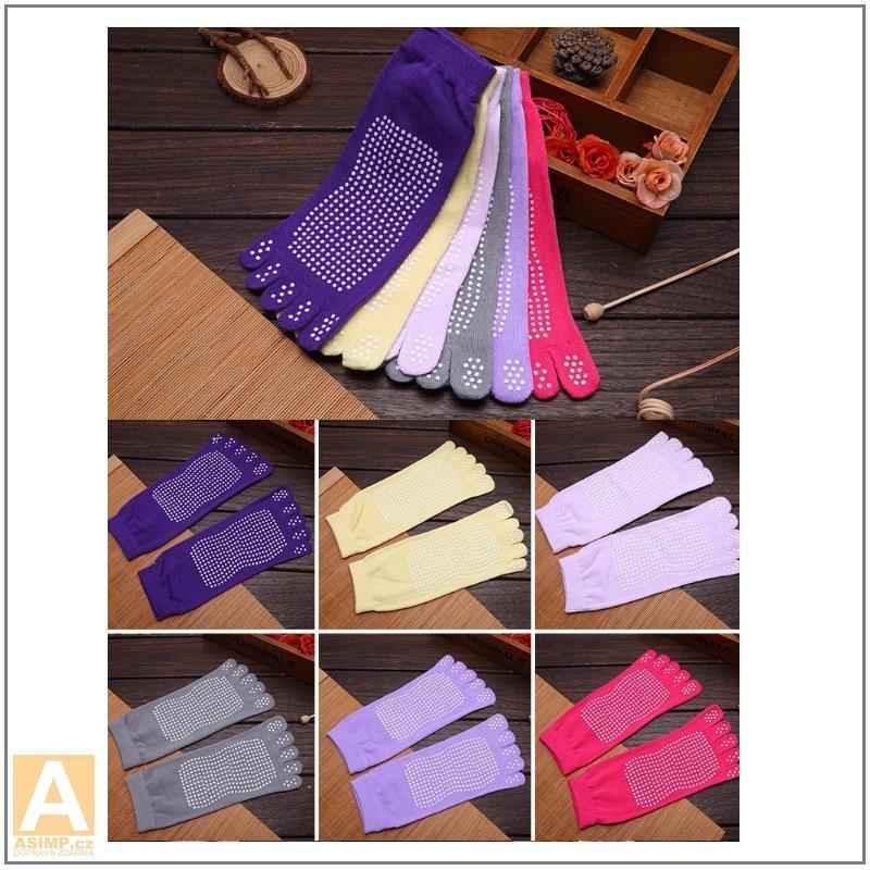 Dámské prstové protiskluzové ponožky / XT-00430
