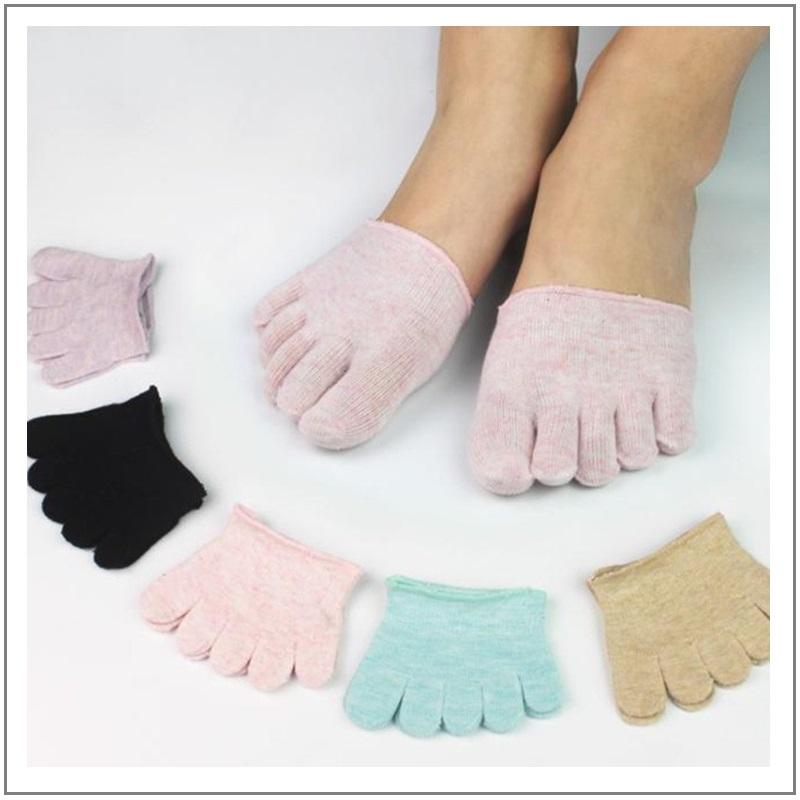 Dámské neviditelné prstové ponožky / XT-00432