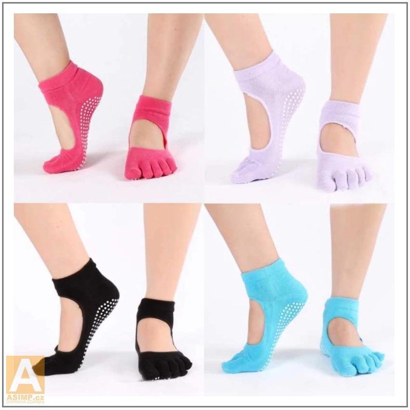 Dámské taneční protiskluzové prstové ponožky / XT-00525