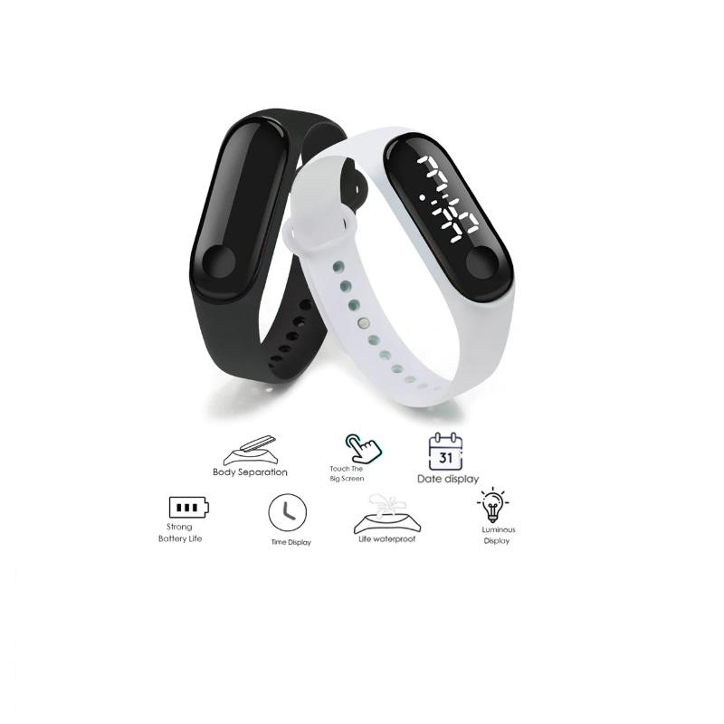 Pánské LED digitální dotykové hodinky / KA-000009