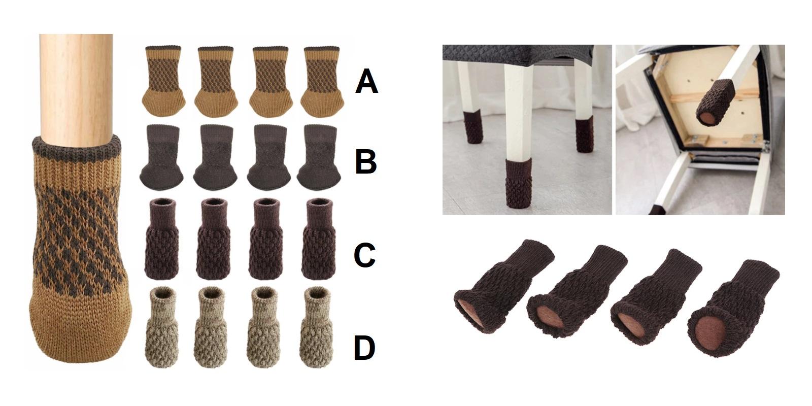 Ochranné návleky na nohy od židle (4 ks) / A-001413