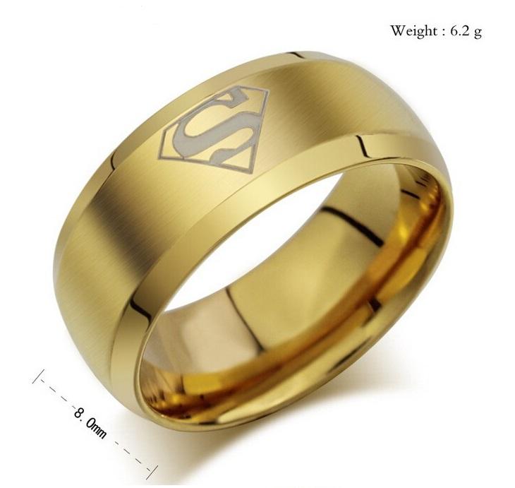 Pánský prsten - Superman / 10-00018b