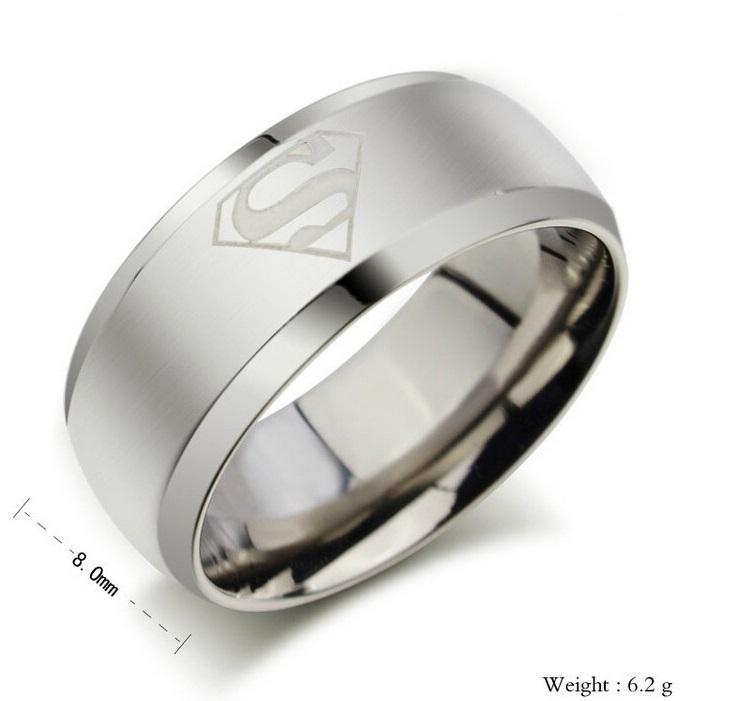 Pánský prsten - Superman / 10-00018c