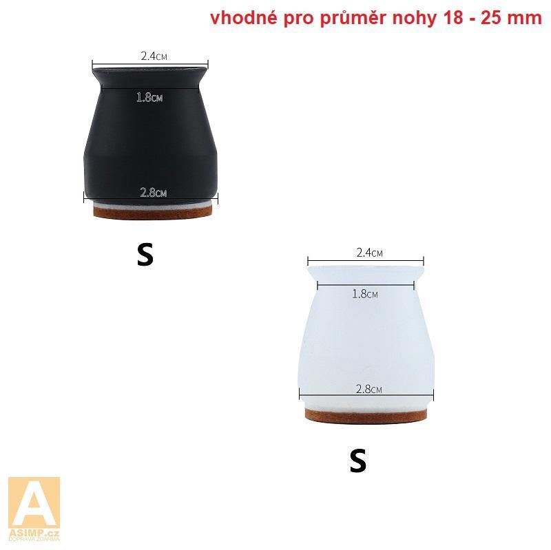 Ochranné návleky na nohy od židle (3,5 cm / 4 ks) / A-002004a / DOPRAVA ZDARMA