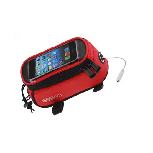 Cyklistická vodotěsná brašna s prostorem pro dotykový telefon