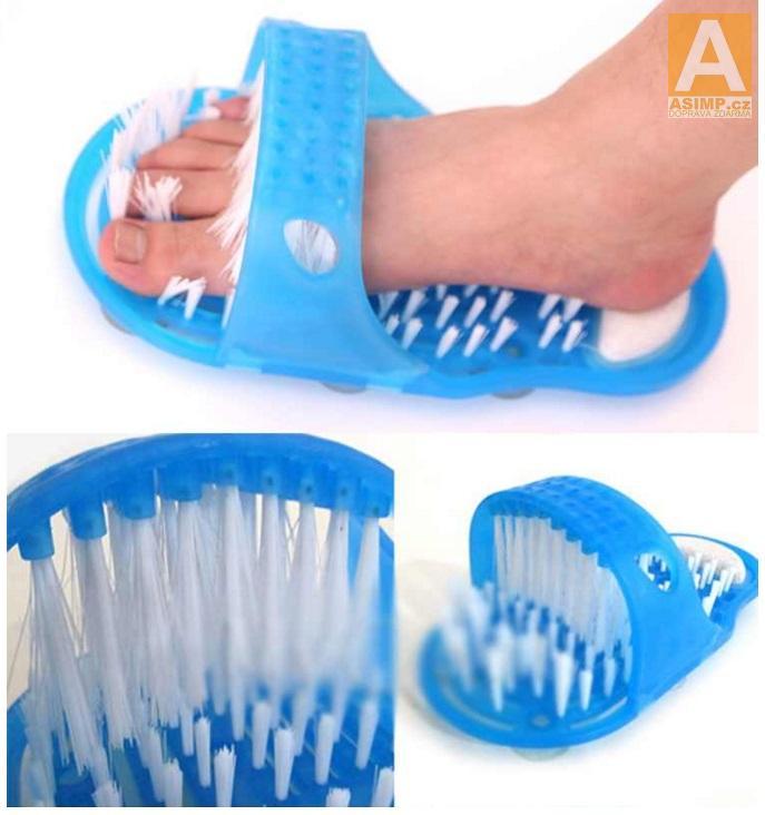 Protiskluzová, masážní a čistící pantofle (1 ks) / 14-00022