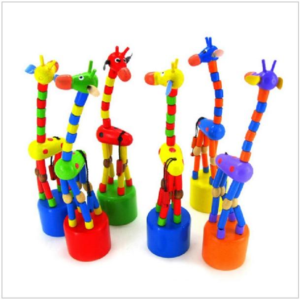 Dřevěná edukační hračka - žirafa / AS4-00036
