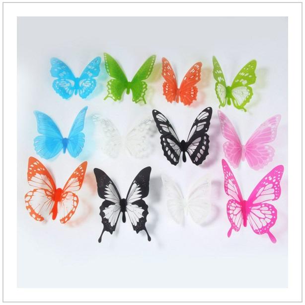 Dekorace na zeď - Motýli (12 ks) / AS1-00099