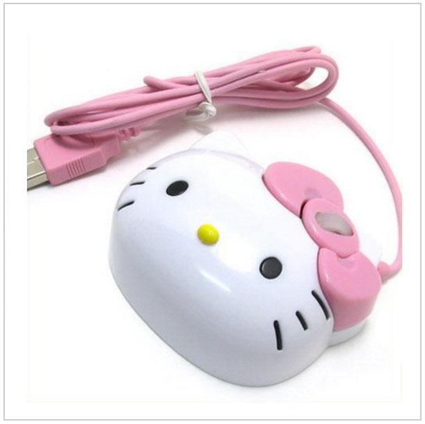 Kabelová myš - Hello Kitty / tnk-13-00407
