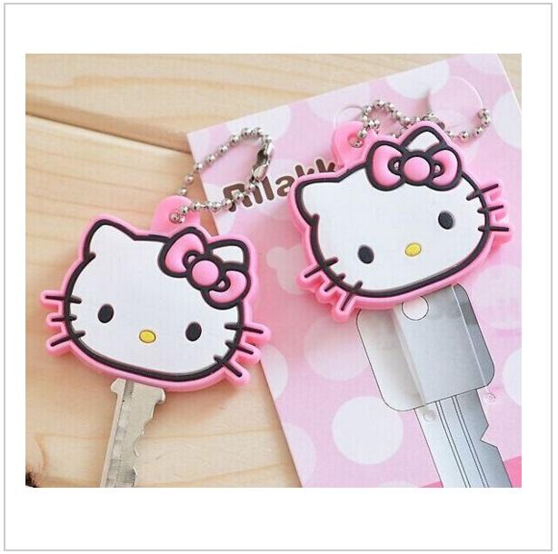 Silikonové pouzdro na klíč - Hello Kitty / dnk-13-00178
