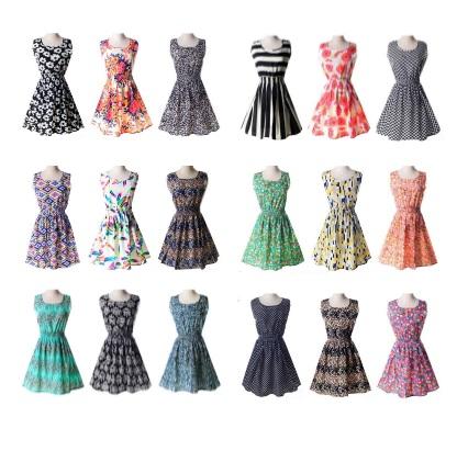 Dámské letní šaty / dnk-13-00279