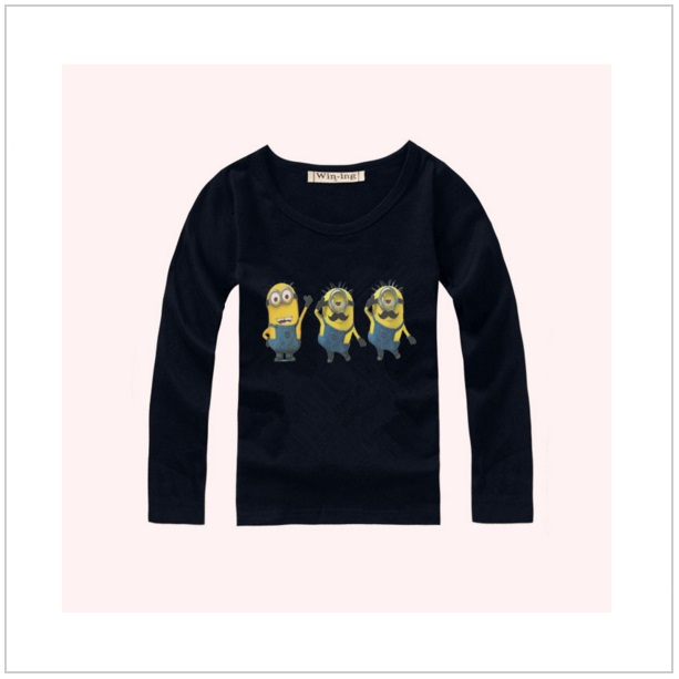 Dětské triko s dlouhým rukávem Mimoň - Black