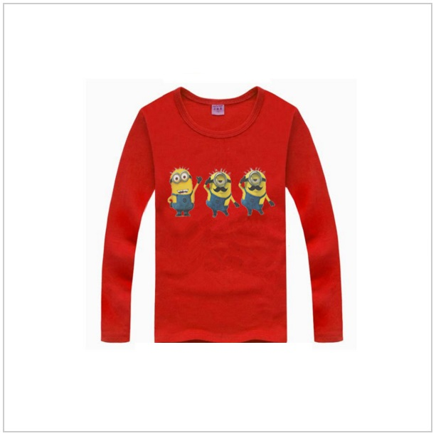 Dětské triko s dlouhým rukávem Mimoň - Red
