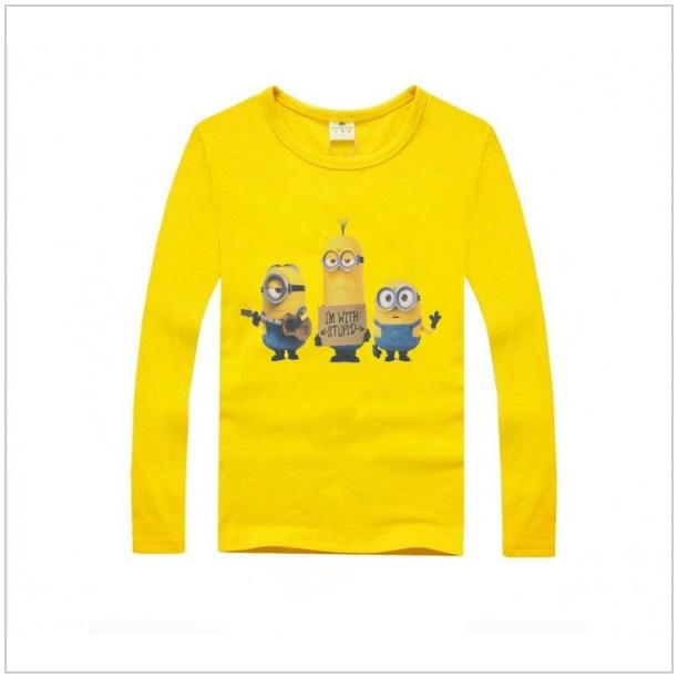 Dětské triko s dlouhým rukávem Mimoň - Yellow / tnk-13-00686