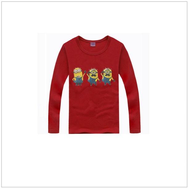Dětské triko s dlouhým rukávem Mimoň - Dark red