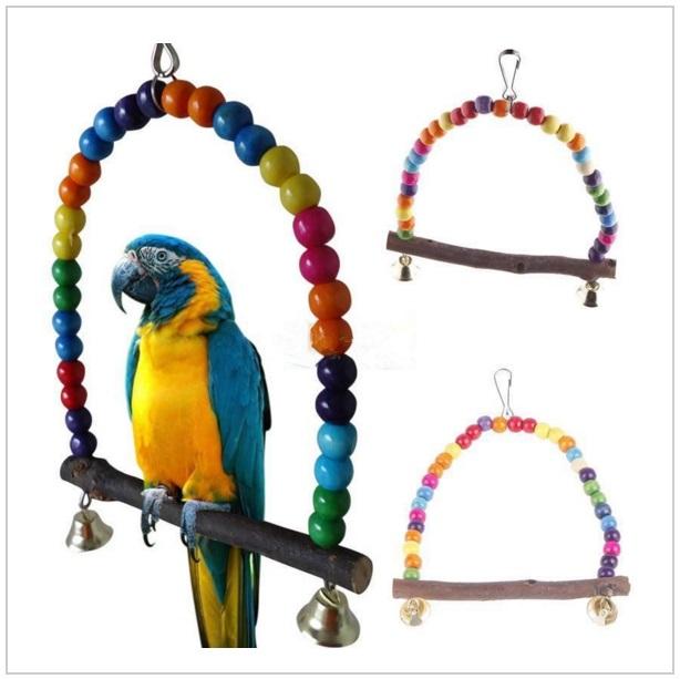 Dřevěné bidýlko pro papoušky