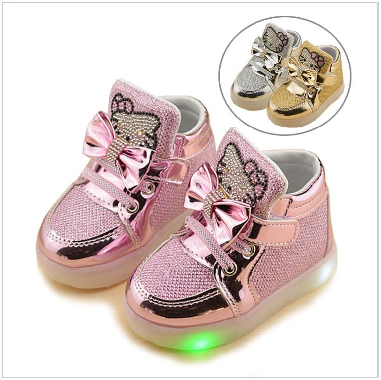 Dětské svítící botičky - Hello Kitty / tnk-13-00802