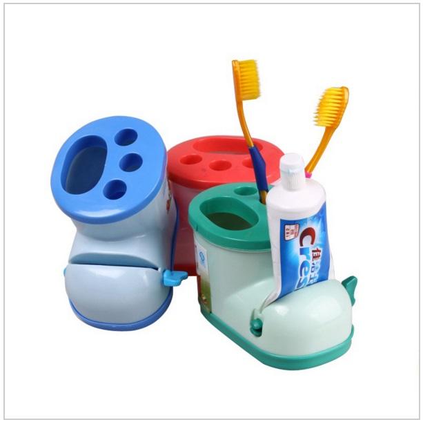 Multifinkční držák na zubní pastu a kartáčky / tnk-13-00868