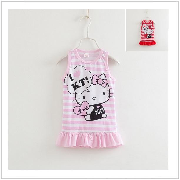 Dětské šatičky Hello Kitty - růžové / dnk-13-00445