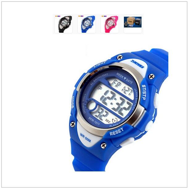 Dětské digitální hodinky - modré / tnk-13-00971
