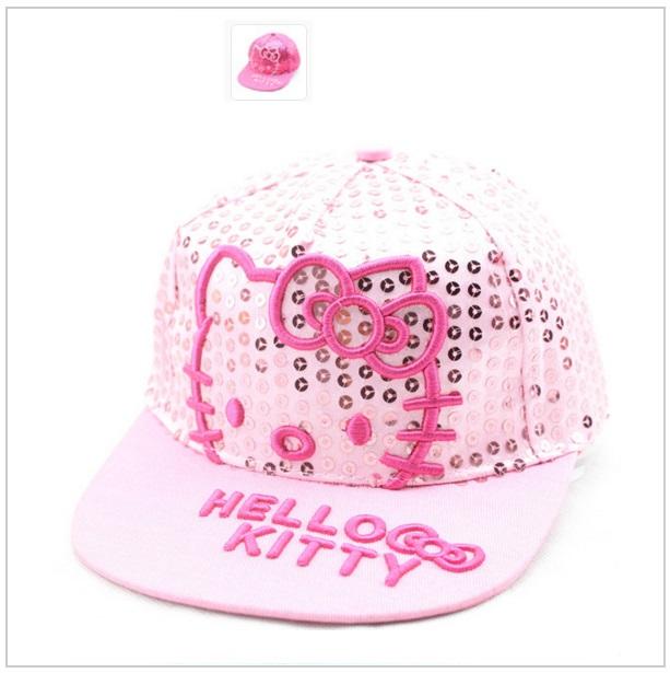 Dětská čepice Hello Kitty - bílá / dnk-13-00470