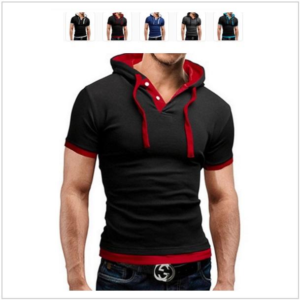 Pánské tričko s kapucí / dnk-13-00690