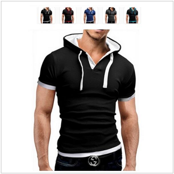Pánské tričko s kapucí / dnk-13-00691