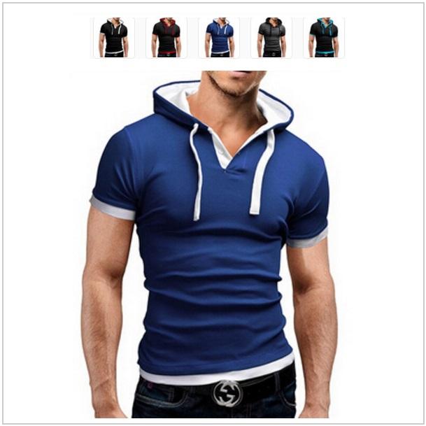 Pánské tričko s kapucí / dnk-13-00692
