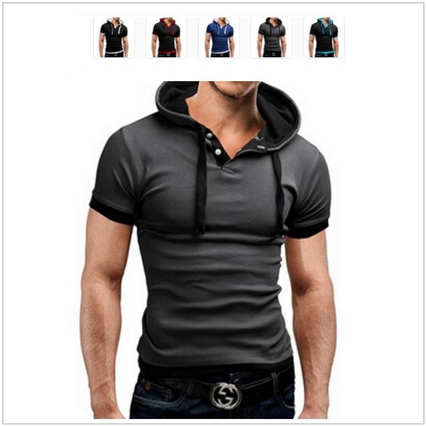 Pánské tričko s kapucí / dnk-13-00693